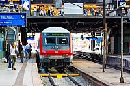 Regionalbahn nach Bargteheide im Hamburger Hauptbahnhof