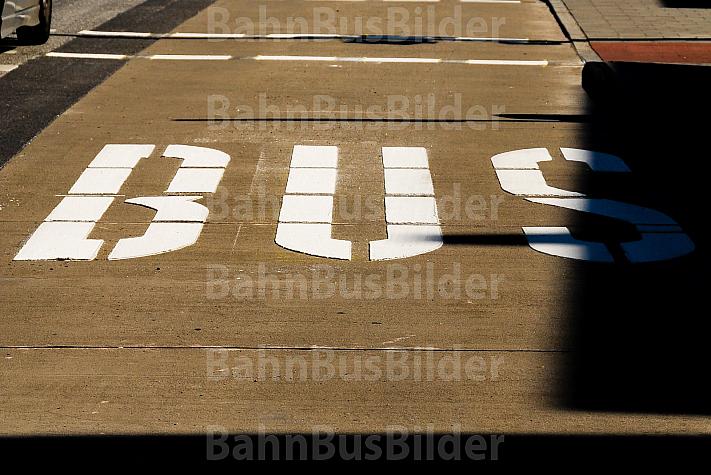 Busspur in Hamburg