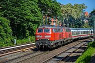 IC in Hamburg (Verbindungsbahn BR 218)