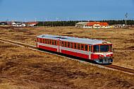 Lemvigbanen-Triebwagen bei Vrist