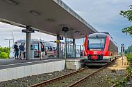 Regionalzug und ICE im Fährbahnhof Puttgarden