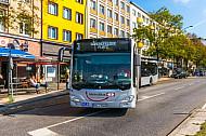 Metrobus M3 in der Feldstraße in Hamburg