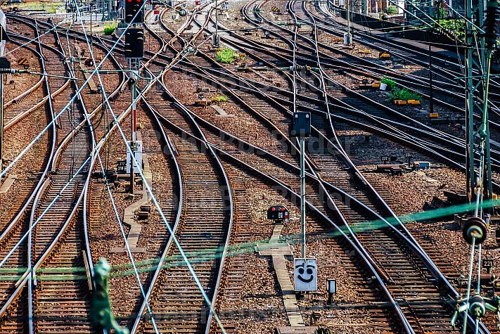 Gleisvorfeld am Hamburger Hauptbahnhof