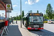Metrobus am Bahnhof Tonndorf in Hamburg
