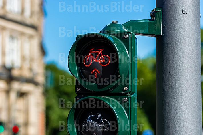 Radfahrer-Ampel in Hamburg