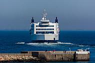Scandlines-Fähre im Hafen von Puttgarden (Vogelfluglinie)