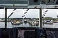 Blick von der Brücke: Die Eisenbahnfähre