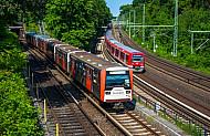 U-Bahn und S-Bahn in Hamburg am Berliner Tor