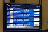 Anzeigetafel: Streik bei der Bahn