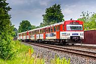 AKN-Triebwagen kurz vor dem Bahnhof Eidelstedt