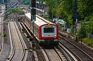 S-Bahn der Linie S21 auf der Verbindungsbahn in Hamburg