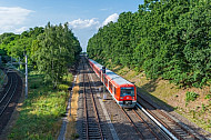 S-Bahn am Rübenkamp (Gleisdreieck) in Hamburg