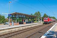 Regionalzug im Bahnhof Horst in Schleswig-Holstein