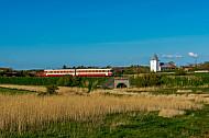 Lemvigbanen-Triebwagen bei Klinkby