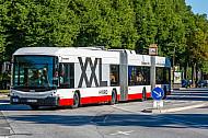 Vorfahrt für die Metrobuslinie M5 in Hamburg