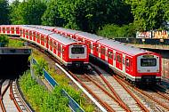 S-Bahnen am Hamburger Hauptbahnhof