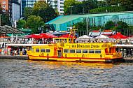 Hafenfähre Falkenstein an den Landungsbrücken in Hamburg