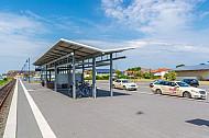 Neuer Bahnhof Burg auf Fehmarn in Schleswig-Holstein