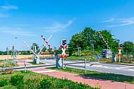 Bahnübergang auf Fehmarn