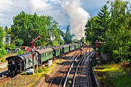 Historische Dampf-S-Bahn auf der Linie S1 in Hamburg-Blankenese