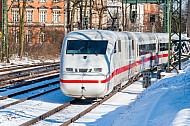 ICE auf der Verbindungsbahn in Hamburg