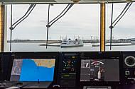 Blick von der Brücke: Die Scandlines-Fähre