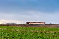 Lemvigbanen-Triebwagen bei Lemvig
