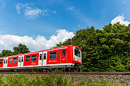 S-Bahn in Hamburg in der Natur