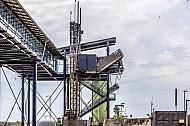 Gangway und Verladeeinrichtungen im dänischen Fährhafen Rödby an der Vogelfluglinie (Fehmarnbelt).