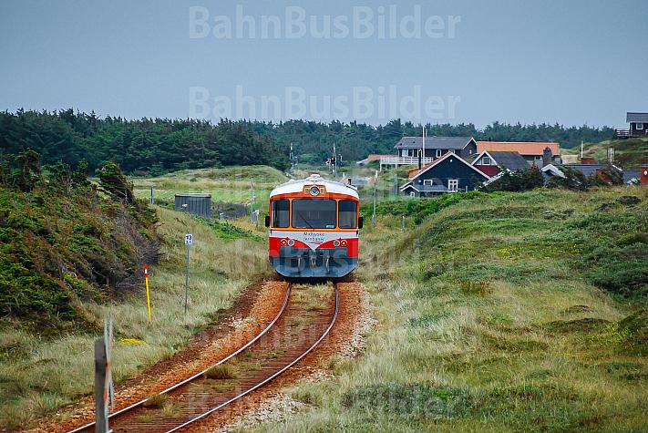 Lemvigbanen-Triebwagen bei Vejlby