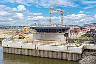 Rohbau der U4-Haltestelle Elbbrücken am 21.08.2016 in der HafenCity in Hamburg