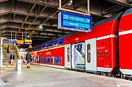Regionalexpress nach Lübeck im Hamburger Hauptbahnhof