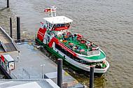 Hafenfähre Övelgönne am Anleger Dockland in Hamburg