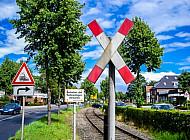 Bahnstrecke der Uetersener Eisenbahn in Tornesch in Schleswig-Holstein
