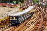 Historische S-Bahn am Hamburger Hauptbahnhof