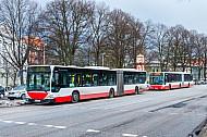 Auch bei Eis und Schnee im dichten Takt unterwegs: Die hochbelasteten Metrobuslinien M4 und M5
