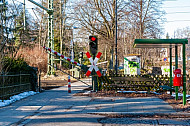 Bahnübergang Schloßgarten in Hamburg