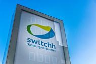 Logo einer Switchh-Mobilitätsstation in Hamburg