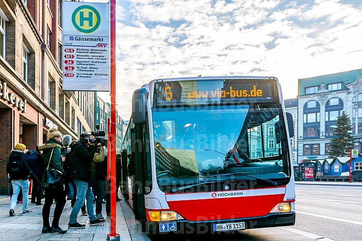 Sonderbus für Busbeschleunigungsprogramm auf der Linie M5 in Hamburg