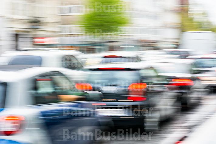 Stau auf den Straßen von Hamburg