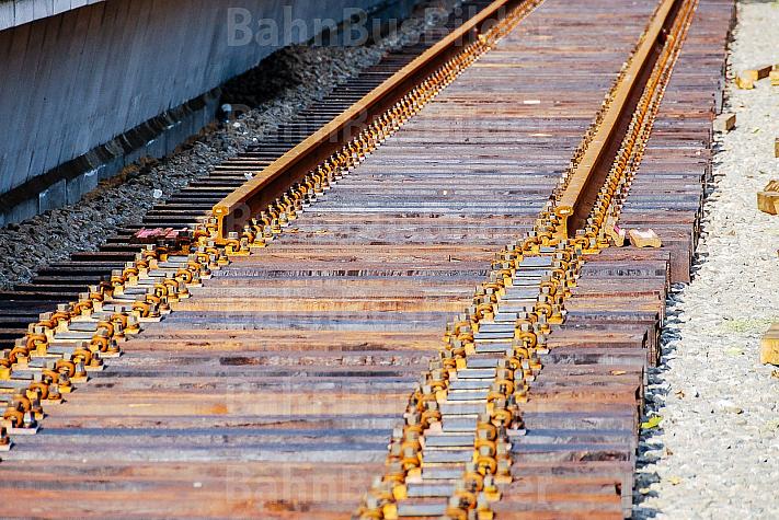 Gleisbau bei der AKN in Hamburg