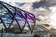 Im Bau: Der künftige U-Bahnhof Elbbrücken in der HafenCity in Hamburg