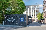 Bike-and-Ride-Station am U-Bahnhof Hoheluftbrücke in Hamburg