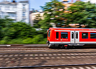 S-Bahn am Dammtor in Hamburg