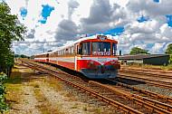 Sonderzug der Lemvigbanen im Bahnhof Lemvig