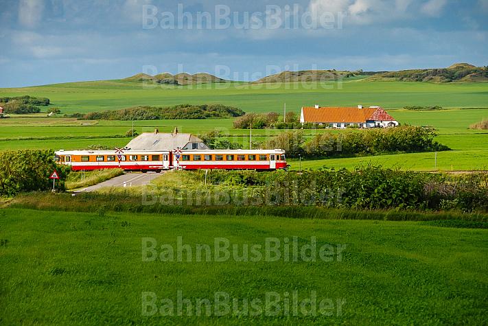 Lemvigbanen-Triebwagen bei Nejrup