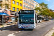 Metrobus der VHH am U-Bahnhof Feldstraße in Hamburg