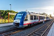AKN-Triebwagen vom Typ LINT in Hamburg