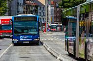 Metrobusse auf der Grindelallee in Hamburg