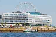 Hafenfähre Kirchdorf - das historische Typschiff der Hadag in der Hafencity in Hamburg